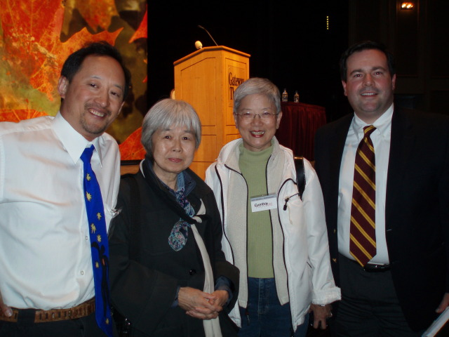 Joy Kogawa and Jason Kenney, with Todd Wong and Cynthia Lam at Chinese head tax redress consultation